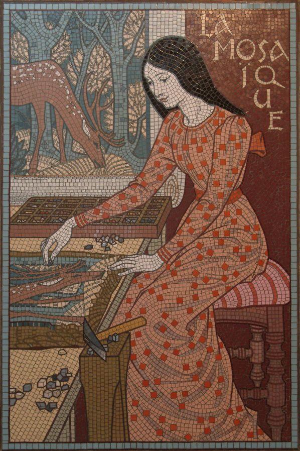 """""""La Mosaïste"""", E. Grasset, 1893"""