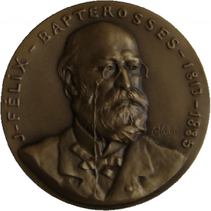Medal with Bapterosses'portrait, Chapu