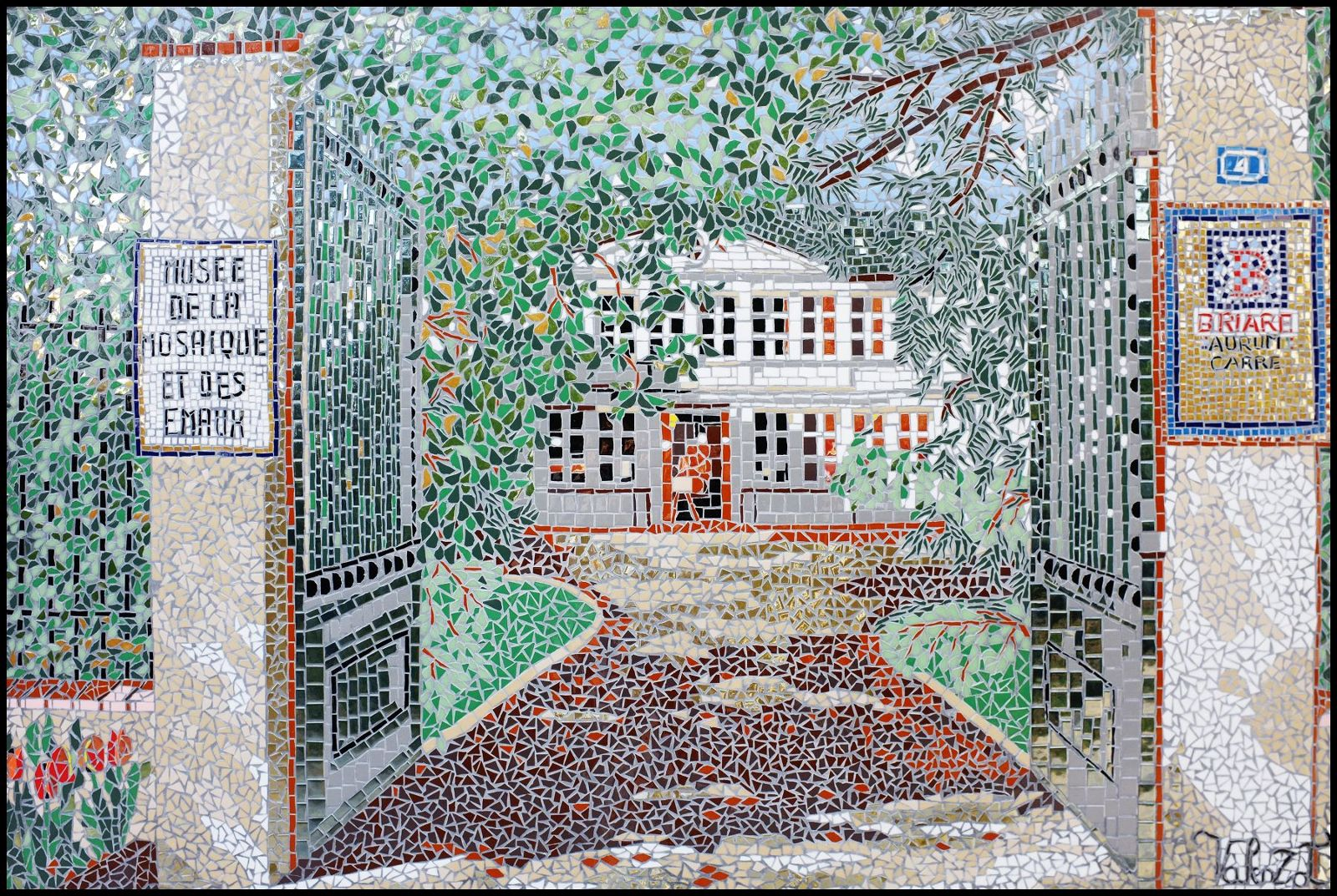 Briare's mosaics and enamel museum